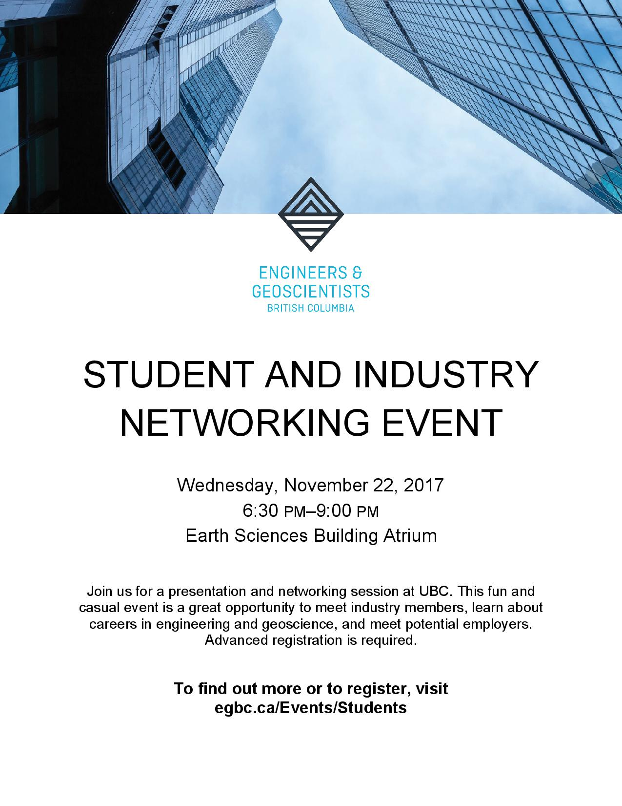Student and Industry Networking Event